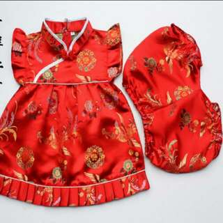 Cute CNY dress for toddlers