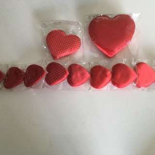 Sponge hearts to go $8.00 by mail