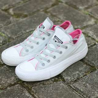 Converse All Star Low Chuck Taylor Premium Quality Grey Pink