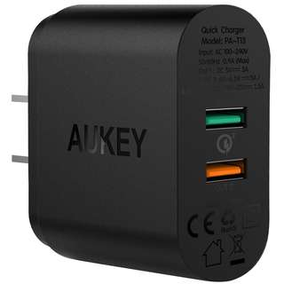 AUKEY 2-Port USB Wall Charger for Samsung Galaxy S7/S7 Edge/S8/S8 Plus/Note 8 & More