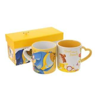 Disney 💛🎶Mug Cup Bell & Beast * 美女與野獸 陶瓷對杯 音樂盒禮盒