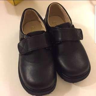 Boys wedding black shoes
