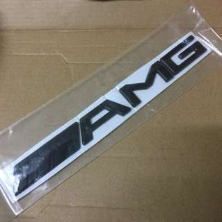 Amg 3D black nameplate