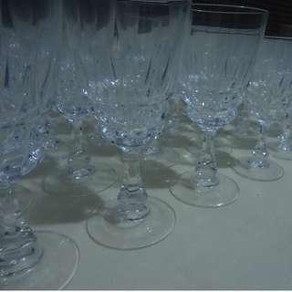 Crystal stemware water goblet