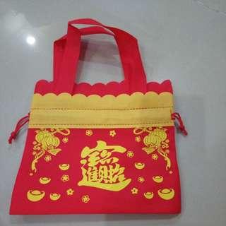 CNY Gift Bag Goodie Bag Orange Carry Bag (400pcs available on hand)