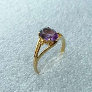 14k585 gold amethyst ring