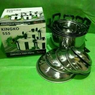 Panci kingko 555 AMERICA HIGH Pots 5 pcs