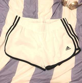 Adidas M10 white running shorts