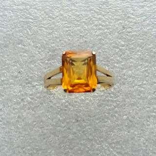 14k585gold orange stone ring