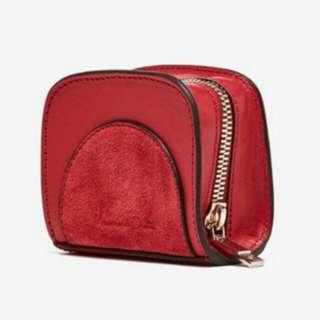 Massimo Dutti Leather Cute Clutch