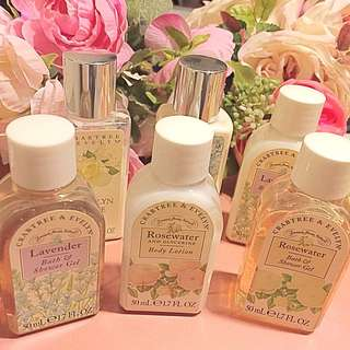 Crabtree & Evelyn Shower Gel and Body Lotion 50ml * 6