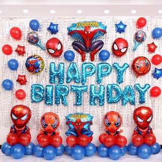 Captain America Package Birthday Party for Children Birthday Balloon Full Moon Balloons hundred days layout dress up