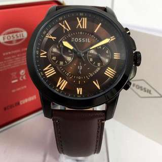 Jam Tangan Fossil Fs5061 45mm Brown