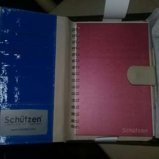 Schutzen Notebook with Leather Jacket