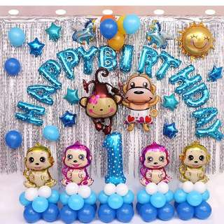 Happy Birthday Balloons Full Set