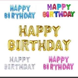 Happy birthday letter balloon