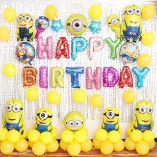Happy Birthday Party Balloons Set