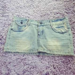 Mini skirt Jeans