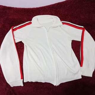 Jacket broken white list red black