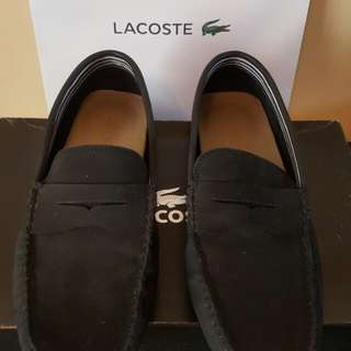 Lacoste Black Loafer/Driving Shoes - Pre Owned
