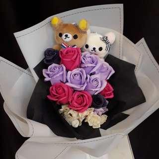 Rilakkuma Soap Rose Bouquet Valentine's Day