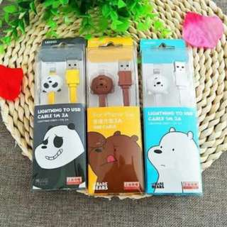 We Bare Bears Android Cable
