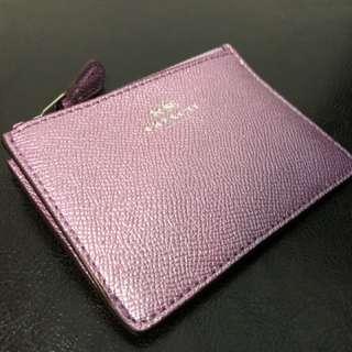 Coach 紫色卡套