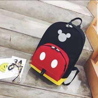 In stock Mickey  mouse design for children  backpack casual bag Size is 22 × 12 × 32cm