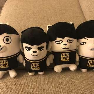 防彈少年團丑娃系列 - Jungkook, V, Jimin, Suga (全套出售)