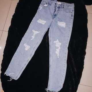 H&M x Choachella boyfriend ripped jeans