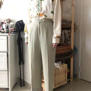 Baggy loose fit tailored trousers