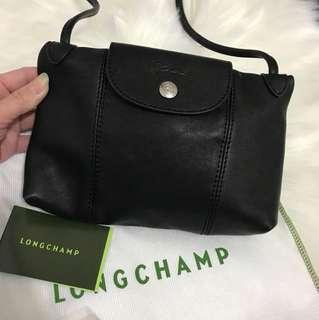 Long champ leather mini bag