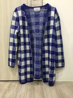 藍白格子外套