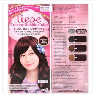 Liese creamy bubble antique rose hair dye
