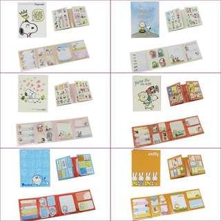 (訂購) snoopy Woodstock, Doraemon 多啦a夢 叮噹, Miffy 米菲兔 Rabbits - memo