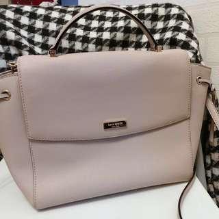 Kate spade 杏色 兩用 十字紋皮 手袋 handbag