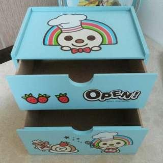 🚚 OPEN醬 雙層抽屜 收納盒