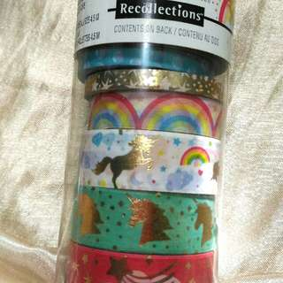 Recollections Unicorn & Mermaid theme washi tubes.
