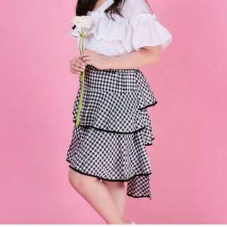 Gingham Terno skirt and blouse
