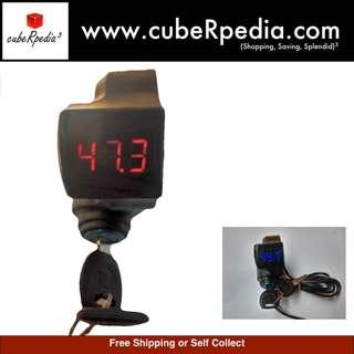 Key ignition with Voltmeter for E scooter 12V - 99V