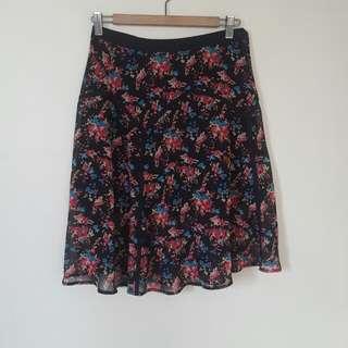 Forever 21 floral midi skirt