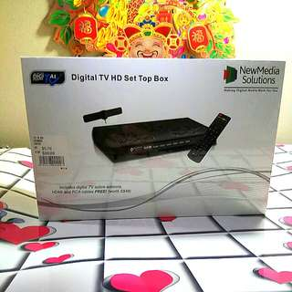 Digital TV HD set top box DVB T2 brand new Media solutions sale $88. Yishun