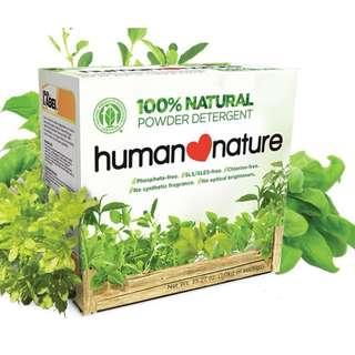 Natural Powder Detergent 1000g by HUMAN❤NATURE