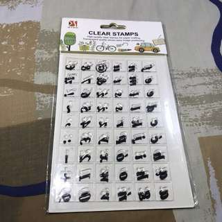 Brand New Clear Stamp (Lowercase Letters)