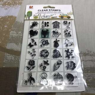 Barely Used Assorted Clear Stamps