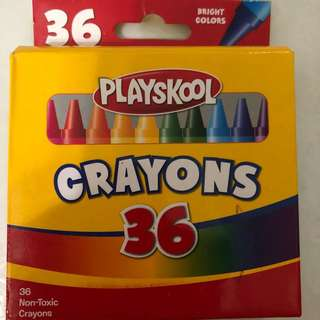 Playskool 36 bright color crayon box