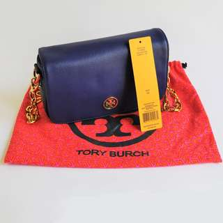 TORY BURCH Robinson Adjustable Chain Mini Bag [Authentic]