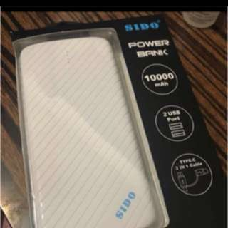 Sido power bank 10000mAh差電器 全新