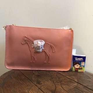 韓國Lapalette 小馬包 全新 真皮 正品