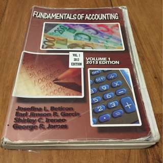 Accounting textbooks carousell philippines fundamentals of accounting volume 1 2013 edition by beticon garcia ireneo fandeluxe Choice Image